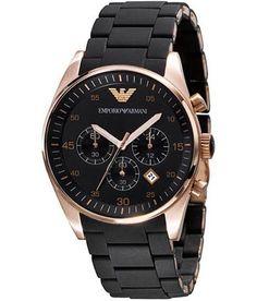 Emporio Armani AR 5905 Rose Gold Chronograph Men's Watch.