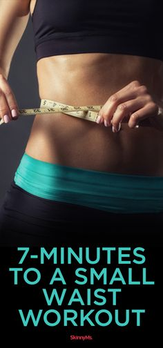 Try this 7 Minutes to A Small Waist Workout! #workout #skinnyms