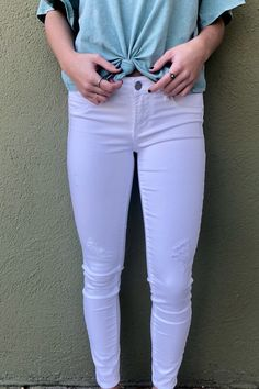 """Articles Of Society """"Sarah Skinny"""" - St. Moritz/ White from Chocolate Shoe Boutique Articles Of Society Jeans, Shoe Boutique, Denim Skinny Jeans, White Denim, Destruction, Chocolate, Pants, Outfits, Inspiration"""