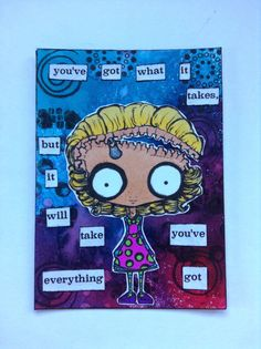 Sassy Monster Crafts: My First ATC---digital stamp from The Octopode Factory