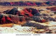 Flagstaff Arizona Attractions Painted Desert   Beautiful Image Of The Painted Desert, Arizona Stock Photo 41690782 ...
