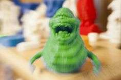 "3D printed ""Slimer"" from Ghostbusters!"