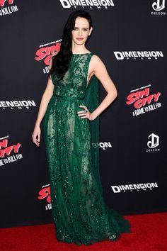 Best Dressed - Eva Green in an Elie Saab green gown