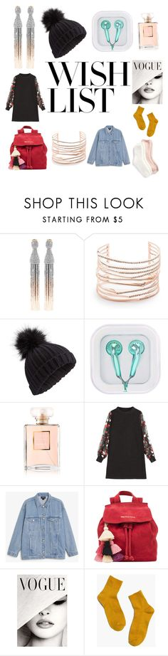 """#PolyPresents: Wish List"" by burntsugarsalt ❤ liked on Polyvore featuring Oscar de la Renta, Alexis Bittar, Miss Selfridge, Chanel, Monki, The Wolf Gang, Madewell, Lemon, contestentry and polyPresents"