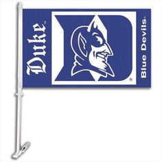 "Duke Blue Devils Car Flag Show your favorite college team spirit proudly with this NCAA car flag, attaches easily and securely to your car window! Measures Approx 11"""" X 14""""!Printed with colorful tea"