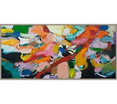 """Brushes of Color 45 1/4"""" Wide Framed Giclee Wall Art 