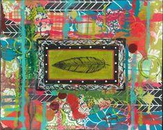 boho gypsy tribal feather art tribal art by MaddyGreyDesigns