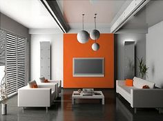 bedroom paint ideas accent wall orange orange accent wall orange accent wall bedroom modern gray accent wall paint ideas master bedroom orange rustic home decorations cheap Living Room Decor Orange, Accent Walls In Living Room, Bedroom Wall Colors, Accent Wall Bedroom, Living Room Modern, Bedroom Orange, Modern Wall, Wall Colours, Bedroom Modern