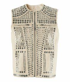 studded vest.