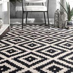 nuLOOM Handmade Abstract Wool Fancy Pixel Trellis Rug (9' x 12')