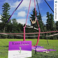 """We ♡ Kama Fitness. On display, our aerial rig and silks. with ・・・ What a great day! Kama Fitness, Fall Back, Healthy Lifestyle Motivation, Blog Design, New Hampshire, Outdoor Activities, Rigs, Nutrition, Love"