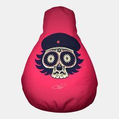 Che Guevara Sugar Skull Pouf Crazy Home, Back Home, Sugar Skull, Converse Chuck Taylor, Che Guevara, High Top Sneakers, Live, Fashion, Moda