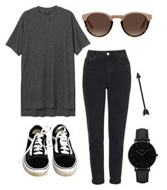 """😎"" by lozovaya-ekaterina on Polyvore featuring мода, Monki, Topshop, Vans и CLUSE"