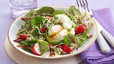 Baby-Salate+mit+pochierten+Eiern+Rezept+»+Knorr