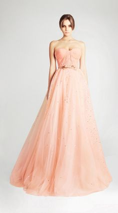 Pink/peach wedding gown // Spring Summer 2013 Georges Hobeika