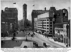 History of Times Square | 570 Seventh Ave Line Photography, Travel Photography, The Bowery Boys, New York Buildings, Times Square New York, Flatiron Building, Vintage New York, Vintage Maps, New York City Travel