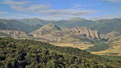 Valle del Najerilla, Matute, La Rioja - Vista panorámica del Cabalgamiento de Cameros y el pueblo de Matute