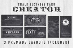 Chalk Business Card Creator by Lucion Creative on Creative Market