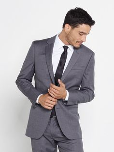The Grey Suit is simultaneously classic and modern, effortless and refined. Includes jacket and pants. Groom And Groomsmen Style, Groom Style, Wedding Suits, Wedding Attire, Wedding Dresses, Rent A Tux, Man And Wife, Dream Wedding, Wedding 2015