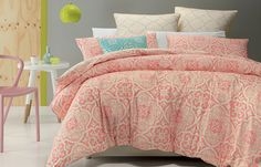 colour it coral House Styles, Decor, Pillow Cases, Interior Inspo, Home, Contemporary Style, Bedroom Design, New Room, Room