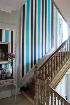 Benjamin's room -  Chromatic Stripe   Chromatic Stripe BP 4205   Farrow & Ball