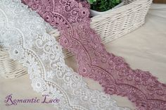 "1yard Embroidery scalloped  venice lace trim 2.8""(7cm) YH weave laceking2013"