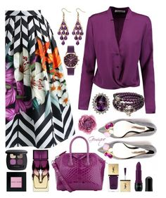 """""""Plum Yummy!"""" by gemique ❤ liked on Polyvore featuring Chicwish, Halston Heritage, Givenchy, Christian Louboutin, Yves Saint Laurent, Nicka K, Bare Escentuals, Palm Beach Jewelry, Henry London and Bobbi Brown Cosmetics"""