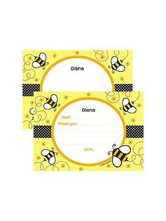 Bumble Bee Personalized Thank You Note