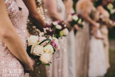 Bridesmaid dresses | bridesmaids bouquets | Legare Waring House, Charleston SC | Event planning by Loluma | Photography by Hyer Images | Charleston Wedding Photographer Hyer Images