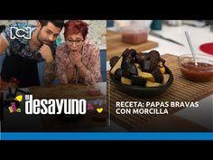 Receta: papas bravas con morcilla | El Desayuno - YouTube Chefs, Salsa Picante, Meat, Youtube, Food, Cook, Breakfast, Recipes, Essen