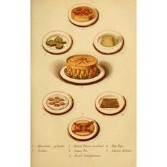 Warnes Model Housekeeper 1882 Game Pie & More Canvas Art - (24 x 36)