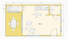 """Der Grundriss des ersten Tiny House """"das Nest"""""""