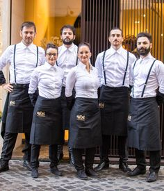 Bakers for four generations, the Roscioli family's latest venture in Rome is a combined café, pasticceria and wine bar with a difference. Cafe Uniform, Waiter Uniform, Hotel Uniform, Cafe Interior Design, Cafe Design, Design Design, Rustic Restaurant, Restaurant Design, Restaurant Interiors