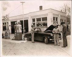 Vintage Gulf Station