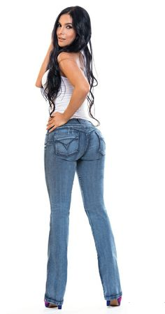 """NEW"" MAX Colombian Butt Lifter Jean in Blue Denim.  Designed to sculpt, shape and look incredibly sexy.  To buy and learn more, come to http://shrsl.com/?~4yk4  $39.90"