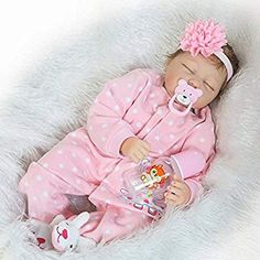 Yiwesan Reborn Baby Girl Lifelike Soft Touch Silicone Vinyl Look Real Baby Dolls with Magnet Pacifier and Headband Real Baby Dolls, Baby Doll Toys, Realistic Baby Dolls, Newborn Baby Dolls, Baby Girl Dolls, Boy Doll, Real Doll, Baby Dolls For Kids, Newborn Girls