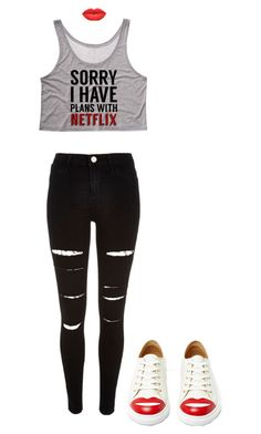 """""""Netflix outfit"""" by lelemer1234 on Polyvore featuring mode, Charlotte Olympia et River Island"""