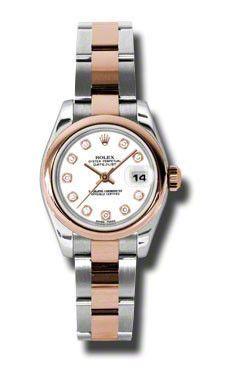 Rolex- Datejust Lady Steel & Pink Gold Domed Bezel Oyster 179161WDO