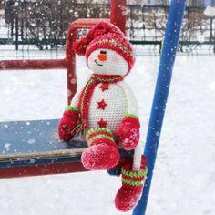 Прогулялся, по снежку, покатался на качельке, а теперь...❤️