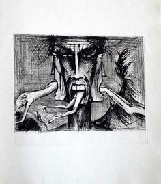 Bernard Buffet, l enfer de dante lucifer -1977 on ArtStack #bernard-buffet #art
