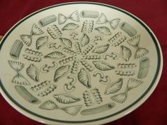 PASTA/SALAD BOWL FROM LA PRIMULA S.R.L.- MADE IN ITALY- WHITE AND GREEN COLOR