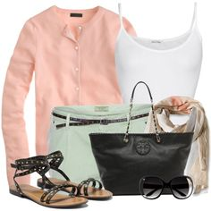 """""""White Tank and Colored Shorts"""" by wishlist123 on Polyvore"""
