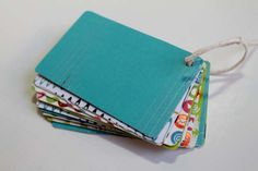 From expired Credit Cards, Upcycled Gift Card Mini Album DIY