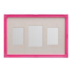 Multi 3 Photo Frame, Pink | ACHICA