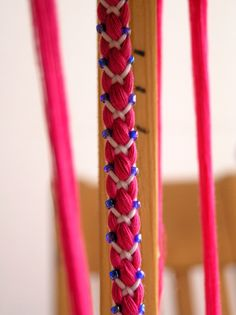 Kumihimo with beads by hallvan, via Flickr