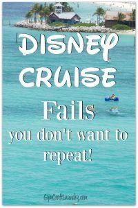 My EPIC Disney Cruise FAILS