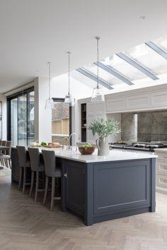 Kitchen interior design – Home Decor Interior Designs Open Plan Kitchen Dining Living, Open Plan Kitchen Diner, Living Room Kitchen, Home Decor Kitchen, New Kitchen, Dining Rooms, Small Dining, Open Plan Living, Kitchen Island
