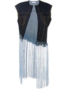 Faustine Steinmetz Sleeveless Warp Float Denim Jacket