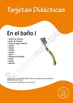 Bildkarten Spanisch: en el baño 1 - Seite 1