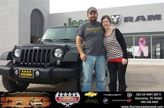 Congratulations to Tom Kingcade on your #Jeep #Wrangler Unlimited purchase from Tracey Frerich at Four Stars Auto Ranch! #NewCar